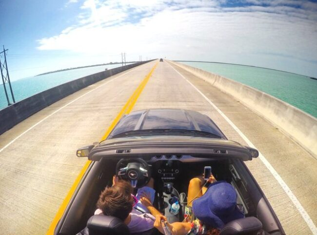 Cruzando a 7 mile bridge, rumo á Key West!